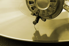 Vintage phonograph record player Stock Photo