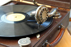 Vintage phonograph record player Stock Photography