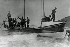 Vintage Photo 1900 Aberystwyth Lifeboat, Wales Royalty Free Stock Photo