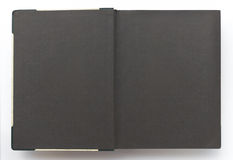 Vintage photo album with blank pages, black paper Stock Photo