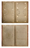 Vintage photo album with dirty aged paper pages Royalty Free Stock Image