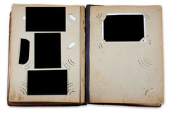 Vintage photo album with empty photos Royalty Free Stock Photo