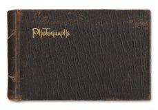 Vintage photo album isolated on white. Vintage leather-bound photograph album isolated on white background Royalty Free Stock Photography