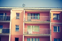 Vintage photo of block of flats abstraction Stock Photography