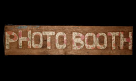 Vintage photo booth sign Royalty Free Stock Image