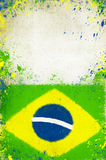 Vintage photo of the Brazil flag Stock Photo