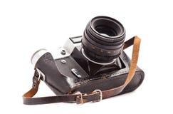 Vintage photo camera. Isolated over white background Royalty Free Stock Photo