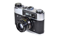 Vintage photo camera FED-5V with Industar-61L-D lens stock images