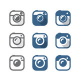 Vintage photo camera icons clipart Royalty Free Stock Images