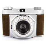 Vintage photo camera isolated on white Stock Photography