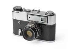 Vintage photo camera. Isolated on white background Royalty Free Stock Photo
