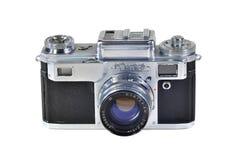 Vintage photo camera KIEV-4 with Jupiter-8M lens stock photography