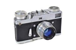 Vintage photo camera Leningrad with Jupiter-8 lens stock photos