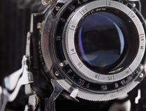 Vintage photo camera lens closeup Stock Photography