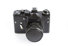 Vintage Photo Camera With Lense  on a White Background Royalty Free Stock Photos