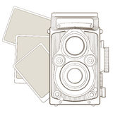 Vintage photo camera with vignette Stock Photo