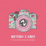 Vintage Photo Camera With Flowers Royalty Free Stock Photography
