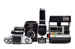 Vintage photo cameras Royalty Free Stock Photography