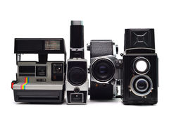 Vintage photo cameras Stock Photography