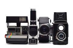 Vintage photo cameras Stock Photography