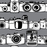 Vintage  photo cameras  seamless pattern Royalty Free Stock Photo