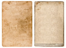 Vintage photo cardboard. Grunge used paper background Royalty Free Stock Photo