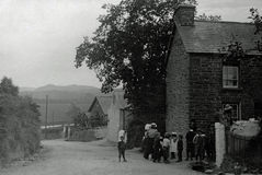 Vintage Photo 1901, Children in Village nr Aberystwyth, Wales Stock Photos