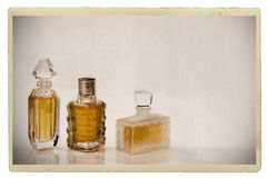 Vintage photo of cologne bottles Royalty Free Stock Photos