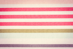 Vintage photo, Colorful striped tablecloth as background Royalty Free Stock Photo