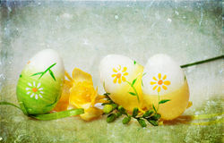 Vintage photo of Easter eggs Royalty Free Stock Image