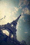 Vintage photo of the Eiffel Tower Royalty Free Stock Image