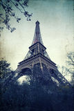 Vintage photo of the Eiffel Tower Stock Images