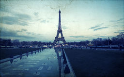 Vintage photo of the Eiffel Tower Stock Photo