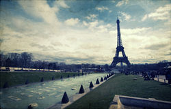 Vintage photo of the Eiffel Tower Stock Photos