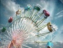Vintage photo of ferris wheel Royalty Free Stock Photo