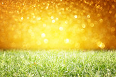 Vintage photo of field and lens flare pic Stock Photos