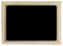 Vintage photo frame. Free copy space isolated on white background Stock Image