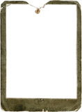 Vintage photo frame. Vintage rusted photo frame isolated on white background Royalty Free Stock Photos