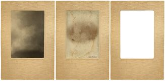 Vintage photo-frame. Vintage portrait-frame in three versions: with the background of the originally inserted one, with the background of another vintage Stock Photos