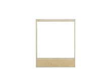 Vintage photo frame. Isolated on white stock photo