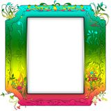 Vintage photo frame with classy patterns Stock Image