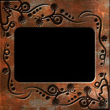 Vintage photo frame with classy patterns Stock Photography