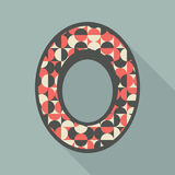 Vintage photo frame with colorful circles and semicircles. Stock Image