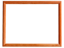 Vintage photo frame isolated on white background. Vintage picture frame, wood plated, white background, clipping path included Stock Photos