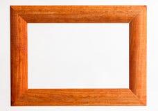 Vintage photo frame isolated on white background. Vintage picture frame, wood plated, white background Royalty Free Stock Images