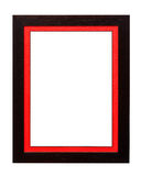 Vintage photo frame with red paper mat Stock Photography