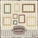 Vintage Photo frame template. Vector illustration Stock Images