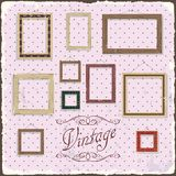 Vintage Photo frame template. Vector illustration Royalty Free Stock Photos