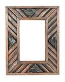 Vintage photo frame, wood frame stock photo