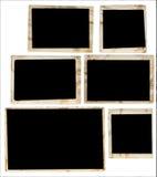 Vintage photo frames. 6 various edges Stock Image